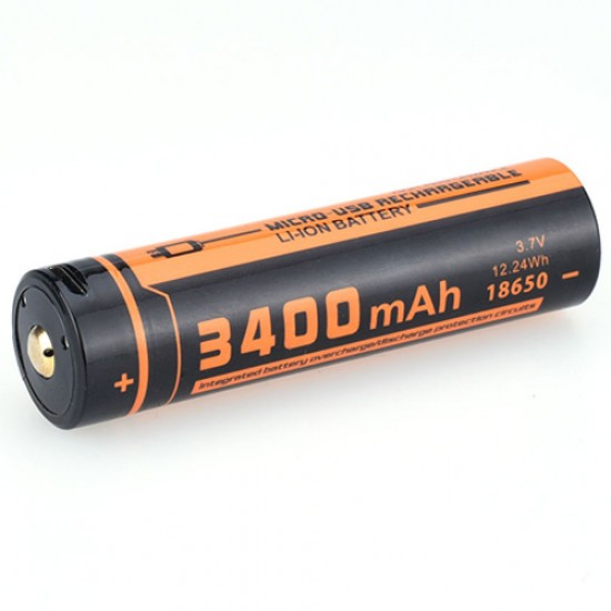 ΜΠΑΤΑΡΙΑ ΛΙΘΙΟΥ ΜΕ USB FITORCH UC34R 18650-3400mAH