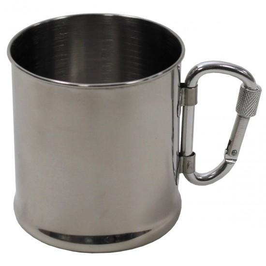ΑΝΟΞΕΙΔΩΤΟ ΠΟΤΗΡΙ MFH INOX CUP-WITH CARABINER