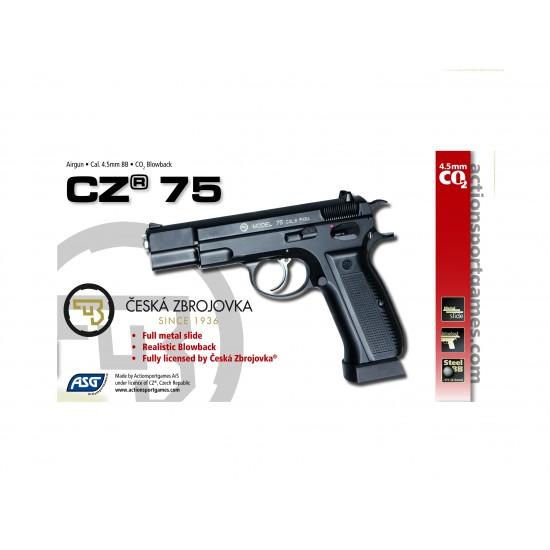 ΑΕΡΟΒΟΛΟ ASG, CZ75, GBB, Metal Slide, 4.5mm