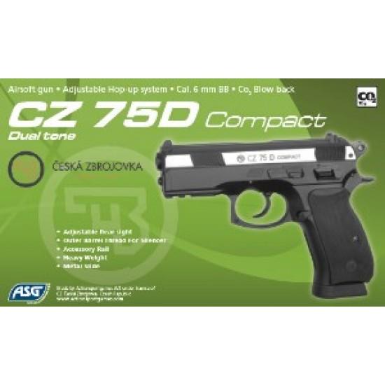 ΠΙΣΤΟΛΙ SOFT GBB, ASG, CZ75D Compact, MS.DT, Co2