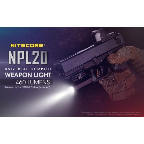 ΦΑΚΟΣ ΟΠΛΟΥ LED NITECORE NPL20 SET ΜΕ ΜΠΑΤΑΡΙΑ CR123