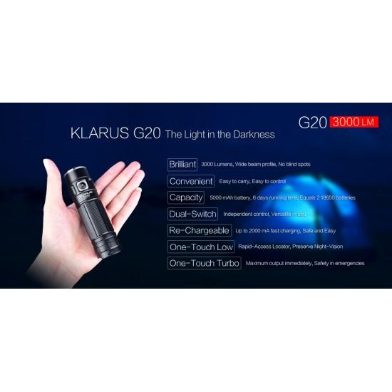 ΕΠΙΧΕΙΡΗΣΙΑΚΟΣ ΦΑΚΟΣ KLARUS G20 3000lumens