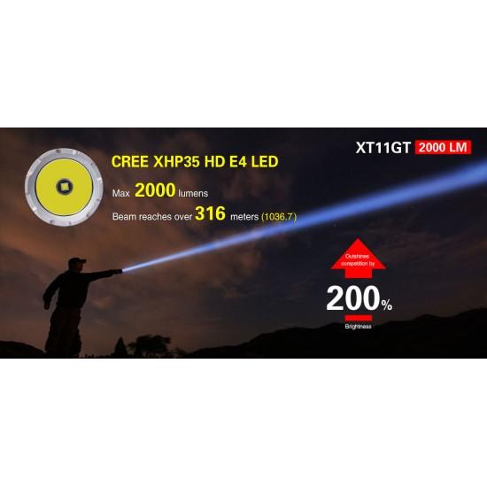 ΕΠΙΧΕΙΡΗΣΙΑΚΟΣ ΦΑΚΟΣ KLARUS XT11GT 2000lumens
