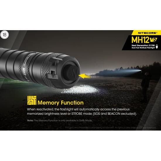 ΦΑΚΟΣ LED NITECORE MULTI TASK HYBRID MH12V2 1200lumens