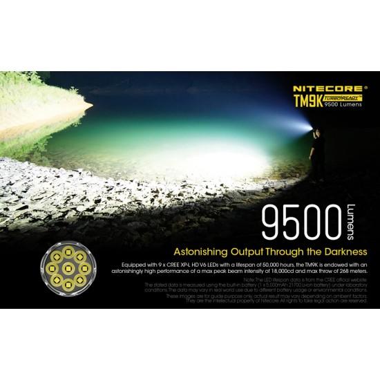 ΦΑΚΟΣ LED NITECORE TM9K 9500 LUMENS