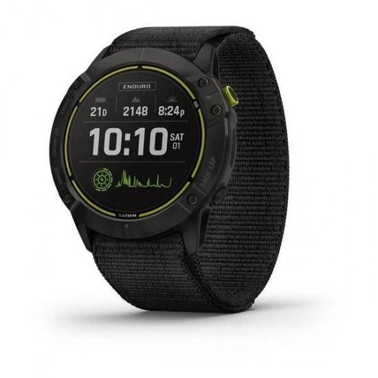 ΡΟΛΟΙ GARMIN ENDURO CARBON GRAY DLC TITANIUM WITH BLACK ULTRAFIT NYLON STRAP
